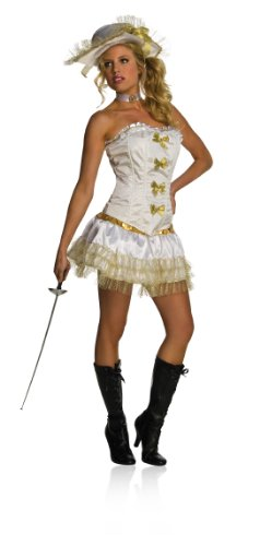 [Secret Wishes  Costume Women's Musketeer Costume, White, Large] (Musketeer Sword Costume)
