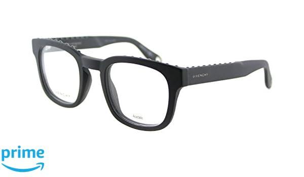 653814d305b Amazon.com  Givenchy GV 0006 0QHC Matte Black Plastic Square Eyeglasses  49mm  Clothing