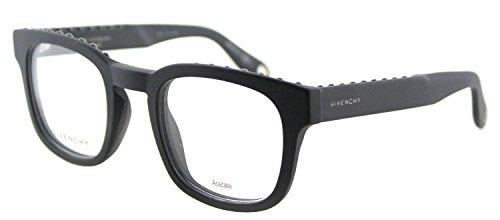 Givenchy GV 0006 0QHC Matte Black Plastic Square Eyeglasses 49mm by Givenchy