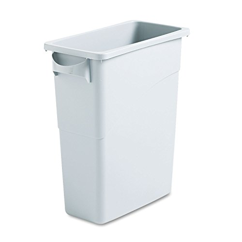 Rubbermaid Slim Jim Waste Container with Handles, 60 L - (Space Saving Waste Container)