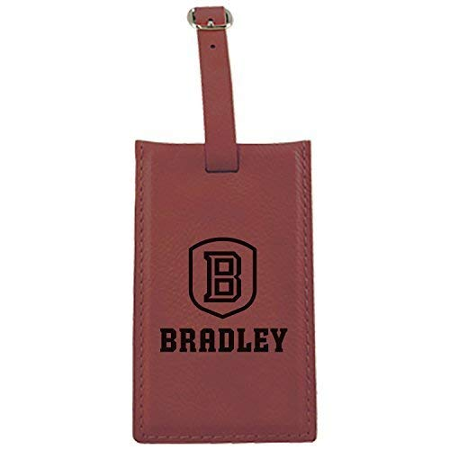 Bradley University – Leatherette Luggage tag-burgundy   B013VZKW30