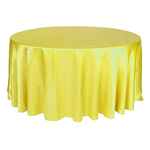 COOCOl 1Pcs Satin Tablecloth 57''90''120'' for Wedding Birthday Party Table Cover Round Table Cloth Home - Satin Lakeland