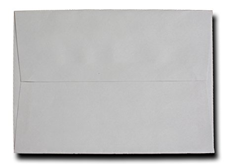 """Free Shipping 50 Envelope Pack Pastel Gray A6 Envelopes (4-3/4"""" X 6-1/2"""") for 4-1/2"""" X 6-1/4"""" A7 5-1/4"""" X 7-1/4"""" Envelopes for 5"""" X 7"""" Greeting Cards, Invitations & Announcements Showers Communion Wedding Christening Birth Confirmation From the Envelope Gallery"""