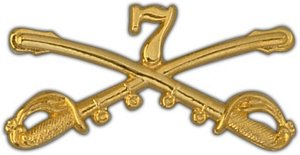 """US Army 2"""" 7th Cavalry Lapel Pin"""