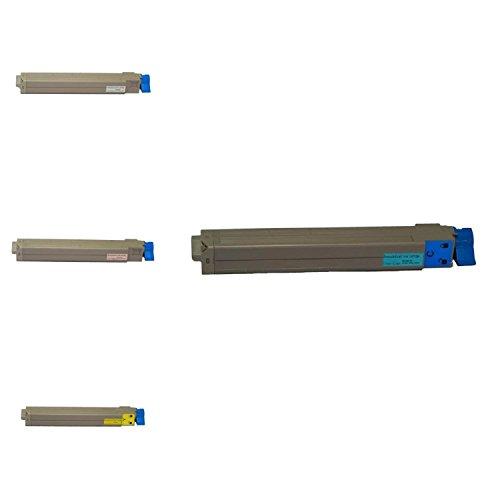 G&G Premium Color Toner Cartridge for OKI C9600/C9800 Combo:1x(42918903),Cyan,Page Yield:15K+1x(42918904),Black,Page Yield:15K+1x(42918902),Magenta,Page Yield:15K+1x(42918901),Yellow,Page Yield:15K ()