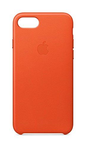 New Apple Leather Case (for iPhone 8 / iPhone 7) - Bright Orange orange iphone case 14