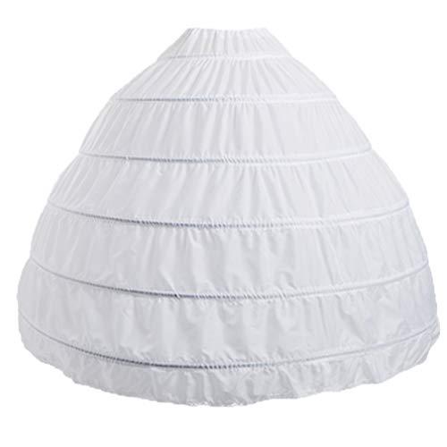 (BiBOSS Hoop Skirt for Women Ball Gown Petticoat Skirt Crinoline Underskirt for Wedding Dress)
