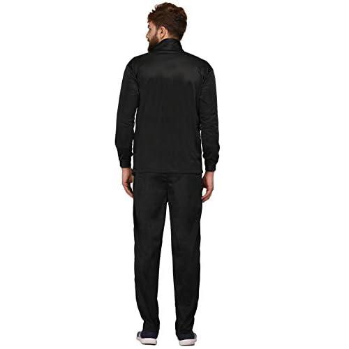 31GZ7BJljML. SS500  - Fashion7 Men's Polyester Tracksuit - Black Tracksuit for Men Sports
