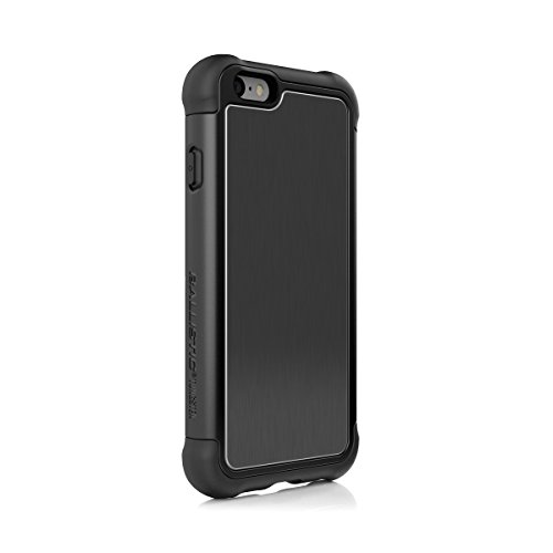 iPhone 6s Plus Case, Ballistic [Tungsten Tough Series] Ultra Protective 7 Ft.Drop Test Certified Protective Case for iPhone 6 Plus and 6S Plus Brushed Black Back Plate