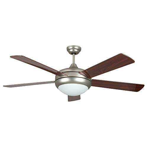 Concord 52SAT5ESN Ceiling Fans with Opal Glass Shades, Satin Nickel Finish ()