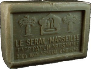 - Savon de Marseille (Marseilles Soap) - Clay Soap Bar 250g - Handcrafted pure olive oil French soap