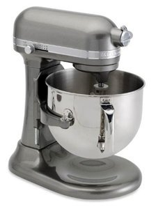 KitchenAid Professional 7-Quart Super Big Biggest Capacity Large KSM7581MS 7-Quart Bowl Largest Lift Stand Mixer Medallion Silver For Sale