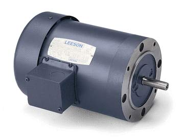 (1 hp 3450 RPM 56C Frame TEFC C-Face (No Base) 208-230/460V Leeson Electric Motor # 110112)