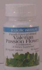 Valerian - Passion Flower Freeze-Dried Eclectic Institute 90 VCaps Eclectic Institute Passion Flower