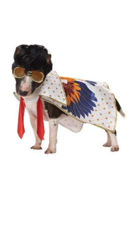 Pup-A-Razzi Rock N Roll King Dog Costume, X-Small, Multicolor