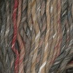 Plymouth Yarn Mushishi Big, 1 skein of color #103, taupe / red / blue variegated