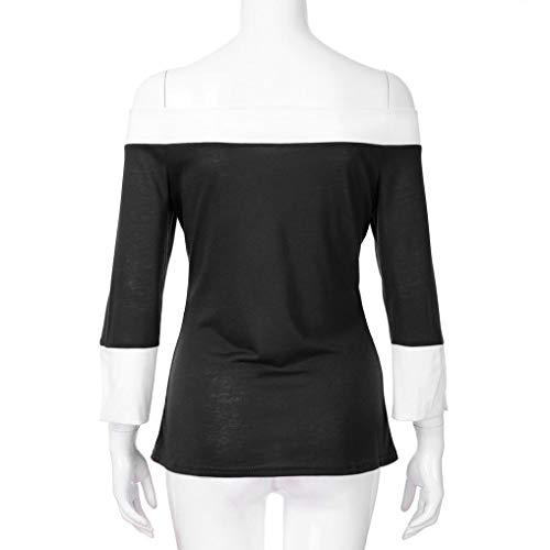 Subfamily Hauts Manches Top Pull Casual Blouse Longues Noir Tee Chemise Femme Chemise Shirt Slim rq74rCwB