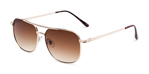 Readers.com   The Pismo Beach Reading Sunglasses +1.25 Gold with Amber Aviator Stylish Men's & Women's Full Frame