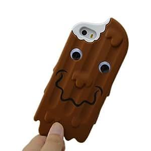 YULIN Helado de chocolate Sonrisa caso de la piel Compatible con el iPhone 5/5S