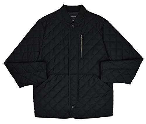- Banana Republic Mens Diamond Quilted Full Zip Field Jacket Black (Large)