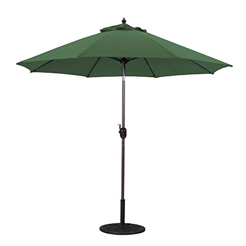 Galtech 636MB22 9 Foot Aluminum Manual Tilt Sun Shade Patio Umbrella, Green from Galtech