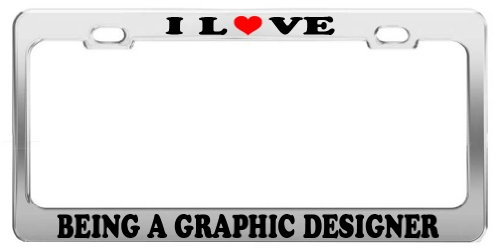 Graphic Designer Licence Plate Cover