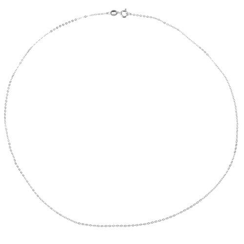 (SM SunniMix 925 Sterling Silver Curb Chain Necklace for Charms Pendants 18'' DIY Gifts - Silver)