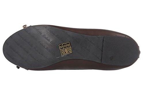 ANDRES mACHADO ballerines femme marron-chaussures en matelas grande taille