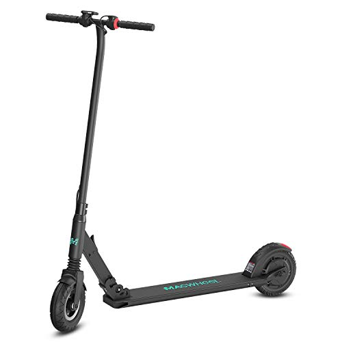 Macwheel Foldable Lightweight Electric Scooter, 8' Airless Foam Filled Tires, Powerful 300W Motor, Up to 15 MPH, Lightweight Folding Adult Electric Scooter for Commuting(MX2)