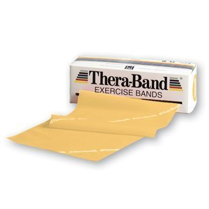 Hygenic/Theraband 20020 Professional Resistance Band, Yellow, Thin, 6 Yd. Length (Pack of 24)