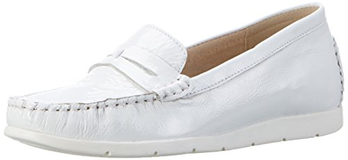 Caprice 24251, Mocasines para Mujer Blanco (White Patent)