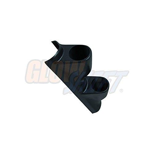 A-pillar Pod Dual - GlowShift Black Dual Pillar Gauge Pod for 1995-1998 Chevrolet Chevy C/K 2500 3500 & GMC Sierra C/K - ABS Plastic - Mounts (2) 2-1/16