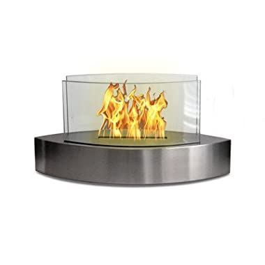 Anywhere Fireplace - Lexington Model Tabletop Bio-ethanol Fireplace in Stainless Steel