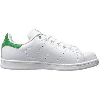 adidas Originals Women's Stan Smith Sneaker, Footwear White/Footwear White/Green, 7