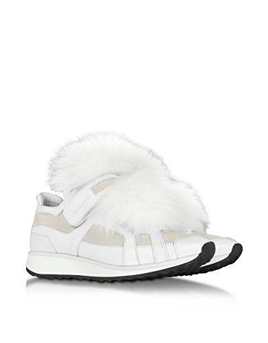 PIERRE HARDY FEMME GS01WHITE BLANC/ROSE CUIR BASKETS