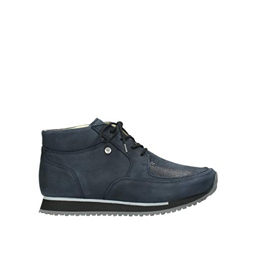 Wolky Comfort Trainers e-Boot 11800 Blue Stretch Leather