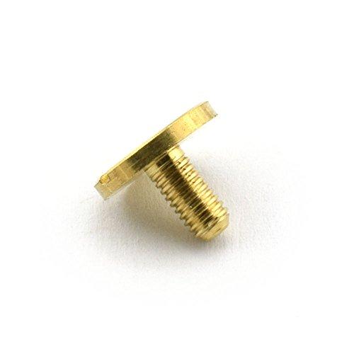 LQ Industrial 4-Pack 1//2 Purse Handbag Feet Nailhead Flat Head Stud Solid Brass Screw-Back Spike Metal Studs Rivet Leather Craft DIY Black 12x7mm