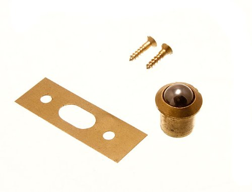 Pack Of 4 Roller Ball Catch And Keeper Solid Brass Body 9Mm With Screws onestopdiy.com