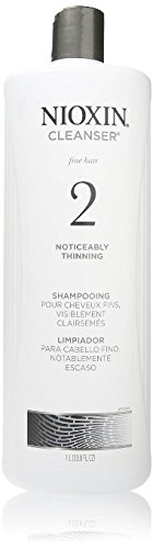 Nioxin Cleanser, System 2 (Fine/Noticeably Thinning )shampooing, 33.8 Ounce