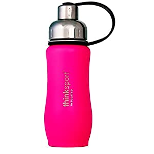 thinksport 350Ml Insulated Sports Bottle, Dark Pink, 12 oz