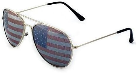 USA Patriotic Aviator Sunglasses American Flag Lens
