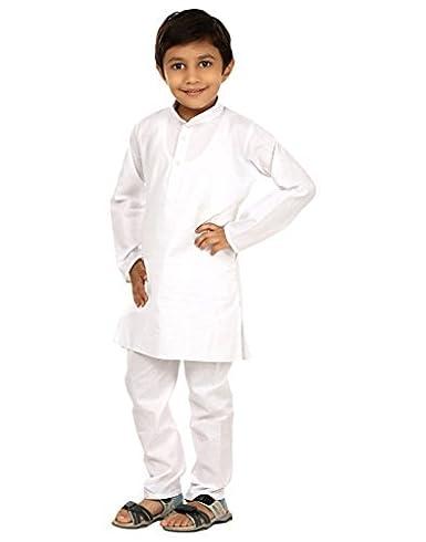 Ethnic Set for Kids Royal Kids White Cotton Clothing