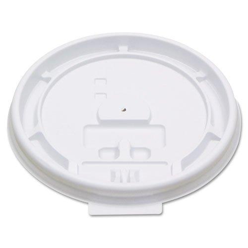 Boardwalk Hot Cup Tear-Tab Lids, 8oz, White - Includes 10 sleeves of 100 lids each.