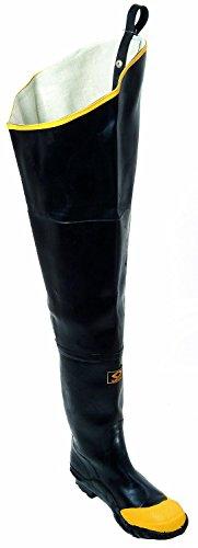 - Herco Heavy Duty Rubber Steel Toe Hip Waders - Men's Size 10 (Black)