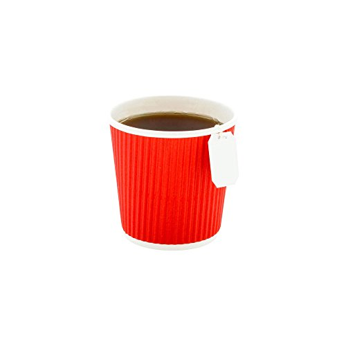 500-CT Disposable Red 4-OZ Hot Beverage Cups with Ripple Wal