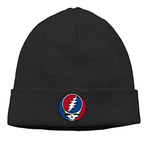 DuncaMontgo Winter Warm Beanie Hats Grateful-Dead-Album-Steal-Your-Face Slouchy Beanie for Men and Women Black