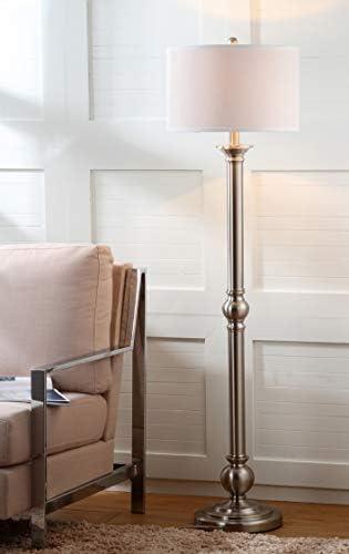 Safavieh Lighting Collection Theo Nickel 60-inch Floor Lamp