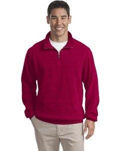 Port Authority - Flatback Rib 1/4-Zip Pullover. F220 - True Red_M