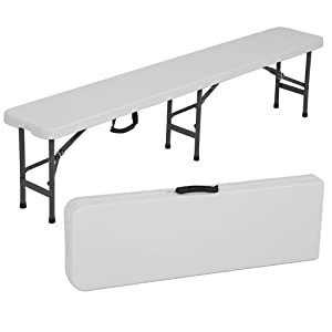 Best ChoiceProducts Folding Portable Plastic Indoor/Outdoor Picnic Party Dining Bench, 6'