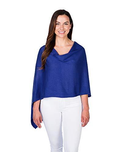 (Caroline Grace by Alashan Trade Wind Cashmere Blend Dress Topper - Montauk Blue)